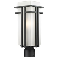 Abbey 1 Light 20 inch Black Post Mount Light