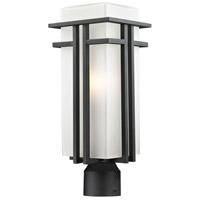 Z-Lite 549PHB-BK-R Abbey 1 Light 20 inch Black Outdoor Post Mount Fixture