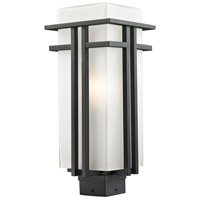 Z-Lite Abbey 1 Light Outdoor Post Light in Black 549PHB-BK