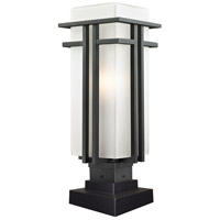 Z-Lite 549PHB-SQPM-BK Abbey 1 Light 20 inch Black Outdoor Pier Mount