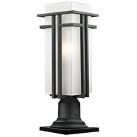 Z-Lite Abbey 1 Light Outdoor Pier Mount Light in Black 549PHBR-533PM-BK