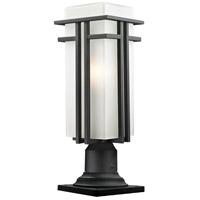 Z-Lite Abbey 1 Light Outdoor Pier Mount Light in Black 549PHBR-533PM-BK