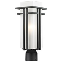 Z-Lite Abbey 1 Light Outdoor Post Light in Black 549PHM-BK-R