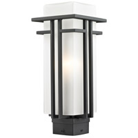 Abbey 1 Light 16 inch Black Post Mount Light