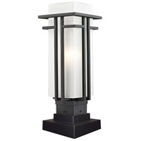 Abbey 1 Light 17 inch Black Outdoor Pier Mount
