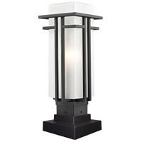 Z-Lite Abbey 1 Light Outdoor Pier Mount Light in Black 549PHM-SQPM-BK