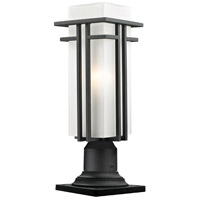 Z-Lite Abbey 1 Light Outdoor Pier Mount Light in Black 549PHMR-533PM-BK