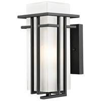 Abbey 1 Light 12 inch Black Outdoor Wall Sconce