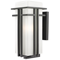 Z-Lite 550B-ORBZ Abbey 1 Light 17 inch Outdoor Rubbed Bronze Outdoor Wall Sconce