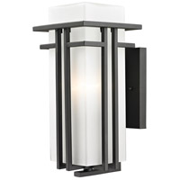 Z-Lite Abbey 1 Light Outdoor Wall Light in Oil Rubbed Bronze 550M-ORBZ