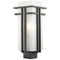 Abbey 1 Light 19 inch Outdoor Rubbed Bronze Post Mount Light