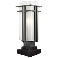 Z-Lite Abbey 1 Light Outdoor Pier Mount Light in Oil Rubbed Bronze 550PHB-SQPM-ORBZ