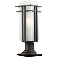 Abbey 1 Light 21 inch Outdoor Rubbed Bronze Outdoor Pier Mount