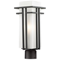 Abbey 1 Light 17 inch Outdoor Rubbed Bronze Post Mount Light
