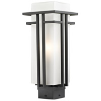 Abbey 1 Light 16 inch Outdoor Rubbed Bronze Post Mount Light