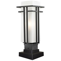 Z-Lite Abbey 1 Light Outdoor Pier Mount Light in Oil Rubbed Bronze 550PHM-SQPM-ORBZ
