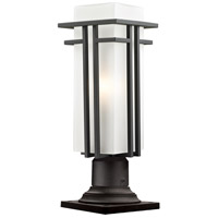 Abbey 1 Light 19 inch Outdoor Rubbed Bronze Outdoor Pier Mounted Fixture