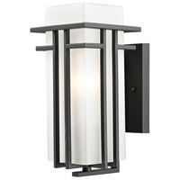 Z-Lite Abbey 1 Light Outdoor Wall Light in Oil Rubbed Bronze 550S-ORBZ