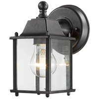 Z-Lite Waterdown 1 Light Outdoor Wall Light in Black 551BK