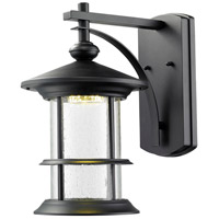 Z-Lite Genesis 18 Light Outdoor Wall Light in Black 552M-BK-LED