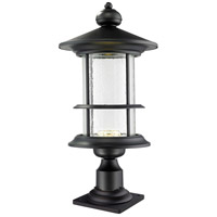 Z-Lite 552PHBR-533PM-BK-LED Genesis LED 24 inch Black Outdoor Post