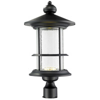 Z-Lite 552PHBR-BK-LED Genesis LED 22 inch Black Outdoor Post
