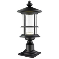 Z-Lite 552PHMR-533PM-BK-LED Genesis LED 20 inch Black Outdoor Pier Mounted Fixture