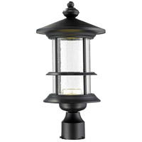 Z-Lite Genesis 18 Light Post Light in Black 552PHMR-BK-LED