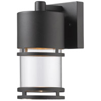 Luminata LED 9 inch Black Outdoor Wall Sconce
