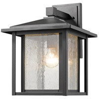 Z-Lite 554B-BK Aspen 1 Light 15 inch Black Outdoor Wall Sconce