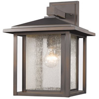 Z-Lite 554B-ORB Aspen 1 Light 15 inch Oil Rubbed Bronze Outdoor Wall Sconce