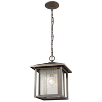 Z-Lite 554CHB-ORB Aspen 1 Light 11 inch Oil Rubbed Bronze Outdoor Chain Mount Ceiling Fixture