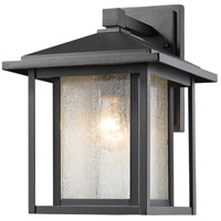 Aspen 1 Light 13 inch Black Outdoor Wall Light