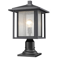 Z-Lite 554PHB-533PM-BK Aspen 1 Light 18 inch Black Outdoor Post