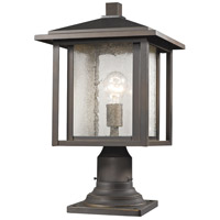 Z-Lite 554PHB-554PM-ORB Aspen 1 Light 18 inch Oil Rubbed Bronze Outdoor Post