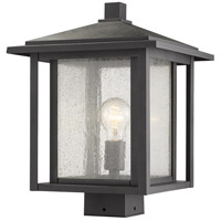Z-Lite 554PHBS-BK Aspen 1 Light 15 inch Black Outdoor Post Mount Fixture