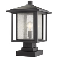 Z-Lite 554PHBS-SQPM-BK Aspen 1 Light 19 inch Black Outdoor Pier Mounted Fixture