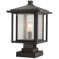 Z-Lite 554PHBS-SQPM-ORB Aspen 1 Light 19 inch Oil Rubbed Bronze Outdoor Pier Mount