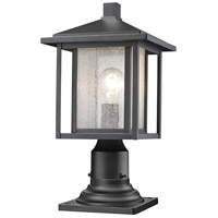 Z-Lite 554PHM-533PM-BK Aspen 1 Light 17 inch Black Outdoor Post