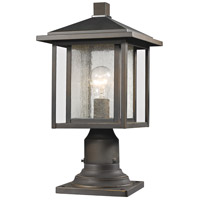 Z-Lite 554PHM-554PM-ORB Aspen 1 Light 17 inch Oil Rubbed Bronze Outdoor Post