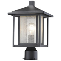 Z-Lite 554PHM-BK Aspen 1 Light 15 inch Black Outdoor Post