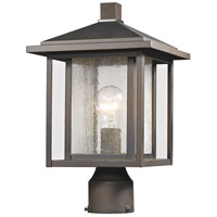 Z-Lite 554PHM-ORB Aspen 1 Light 15 inch Oil Rubbed Bronze Outdoor Post Mount Fixture