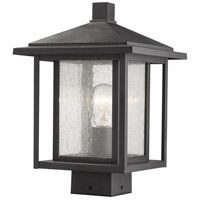 Z-Lite 554PHMS-BK Aspen 1 Light 13 inch Black Outdoor Post Mount Fixture
