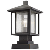 Z-Lite 554PHMS-SQPM-ORB Aspen 1 Light 17 inch Oil Rubbed Bronze Outdoor Pier Mount
