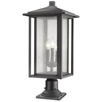 Z-Lite 554PHXLR-533PM-BK Aspen 3 Light 26 inch Black Outdoor Pier Mount