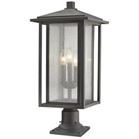 Z-Lite 554PHXLR-533PM-ORB Aspen 3 Light 26 inch Oil Rubbed Bronze Outdoor Pier Mount