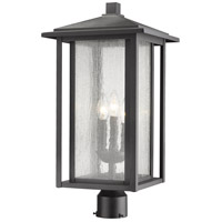 Z-Lite 554PHXLR-BK Aspen 3 Light 22 inch Black Outdoor Post Mount