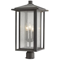 Z-Lite 554PHXLR-ORB Aspen 3 Light 22 inch Oil Rubbed Bronze Outdoor Post Mount