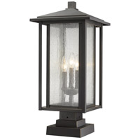 Z-Lite 554PHXLS-SQPM-ORB Aspen 3 Light 24 inch Oil Rubbed Bronze Outdoor Pier Mounted Fixture