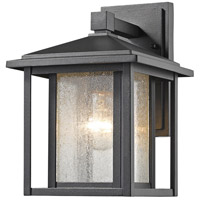 Aspen 1 Light 11 inch Black Outdoor Wall Sconce